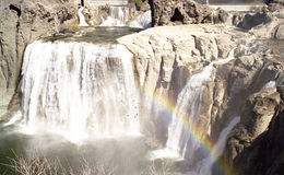 Shoshone Falls w/ Rainbow royalty free stock photo