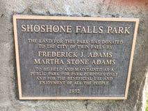 Shoshone Falls West stock photo