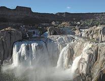Shoshone valt Tweelingdalingen Idaho stock afbeelding