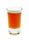 Shot. Glass isolated on white Stock Image
