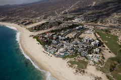 Shot from the air in los cabos Stock Images