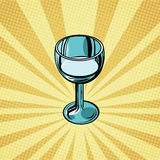 Shot of alcohol pop art retro background Royalty Free Stock Images