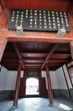 Shot of Ancient Chinese temple pagoda castle Royalty Free Stock Images