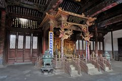 Ancient Chinese temple pagoda castle Royalty Free Stock Images