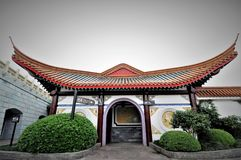 Ancient Chinese temple pagoda castle Royalty Free Stock Photo