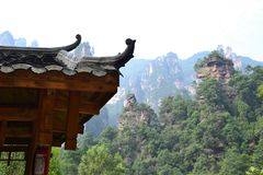 Ancient Chinese temple pagoda castle Stock Images