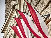 Shot of Austrian flags royalty free stock images