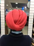 Back view of a turban. stock photography