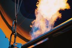 Balloon firing process in Cappadocia, Turkey royalty free stock images