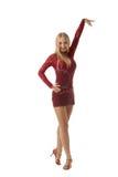 Shot of beautiful ballroom dancer posing at camera Stock Image