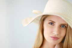 Shot of a beautiful girl in summer style Royalty Free Stock Image