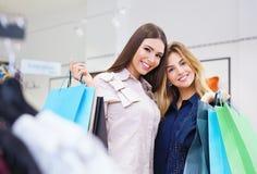 Shot of a beautiful young women going shopping. Shot of a beautiful happy young women with shopping bags Stock Photography