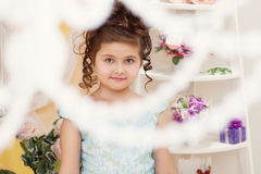 Shot of beautiful little girl smiling at camera Stock Images