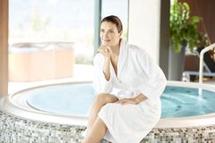 Womna enjoy relaxing in the spa Stock Image