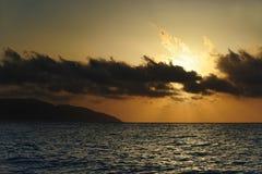 Greek sunset. A shot of a beautiful sunset in Kefalonia Island, Greece Stock Photography
