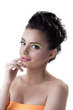 Shot of beautiful young woman with colorful makeup Royalty Free Stock Image