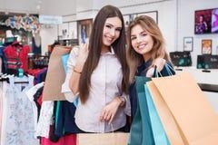 Shot of a beautiful young women going shopping. Shot of a beautiful happy young women with shopping bags Royalty Free Stock Photos