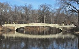 Bow Bridge in New York`s Central Park. This is shot of the Bow Bridge in New York`s Central Park on an early Spring day Royalty Free Stock Image