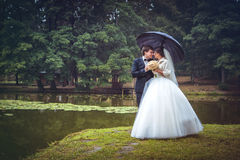 Shot of bride and groom Royalty Free Stock Image