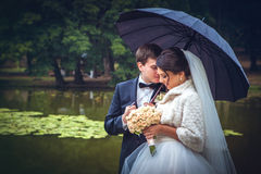 Shot of bride and groom Stock Images