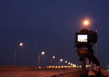 Shot on bridge Stock Images