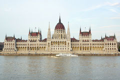 Shot of budapest parliament Royalty Free Stock Images
