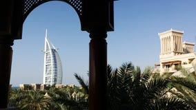 Shot of the Burj Al Arab Hotel in Dubai, United Arab Emirates stock video