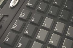 Calculator buttons in a close-up shot Royalty Free Stock Images