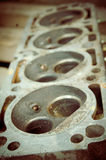 Shot of car engine block vintage processed Stock Images