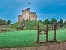 Shot of the Castle of Cardiff stock images