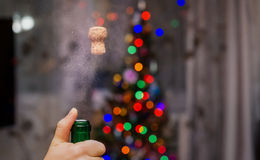 Shot of champagne in the new year. Royalty Free Stock Photos