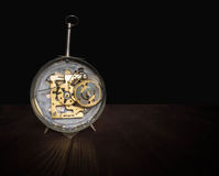 The shot of clockwork gears inside the watch Royalty Free Stock Image