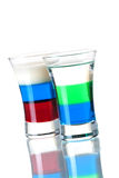 Shot cocktail collection: Anabolic and Russian Fla Stock Images
