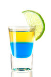 Shot cocktail collection: Blue Tequila Stock Photography