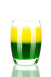 Shot cocktail collection: Green and Gold Royalty Free Stock Images