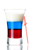 Shot cocktail collection: Russian Flag Stock Image