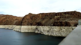 Shot of Colorado River and Black Canyon near Hoover Dam. In Nevada stock video