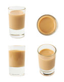 Shot of cream liqueur isolated Royalty Free Stock Photography