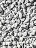 Shot of crushed stone, pebbles used as decorations in gardens to create detachment of colors or for protection. Shot of crushed stone,  used as  in  to   of stock photography