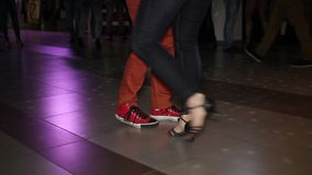 Shot of dancing feet stock footage