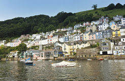 A Shot of Dartmouth Houses, Devon, England Royalty Free Stock Photography