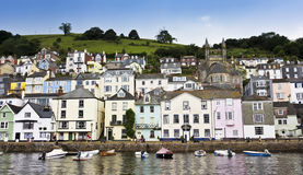 A Shot of Dartmouth Houses, Devon, England Royalty Free Stock Photos