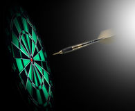 Shot of darts in bullseye. On dartboard Royalty Free Stock Image