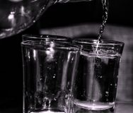 Shot& x27 de la vodka; s Imagen de archivo libre de regalías