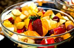 Shot of delicious dessert, fruits & cakes Royalty Free Stock Photos
