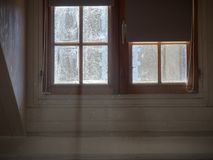 Shot of a window with light coming in royalty free stock image