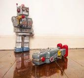 Shot down robots Stock Photo