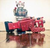 Shot down robots Stock Photos