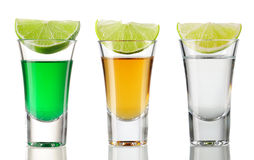 Shot drink set Stock Photography