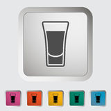 Shot drink royalty free illustration